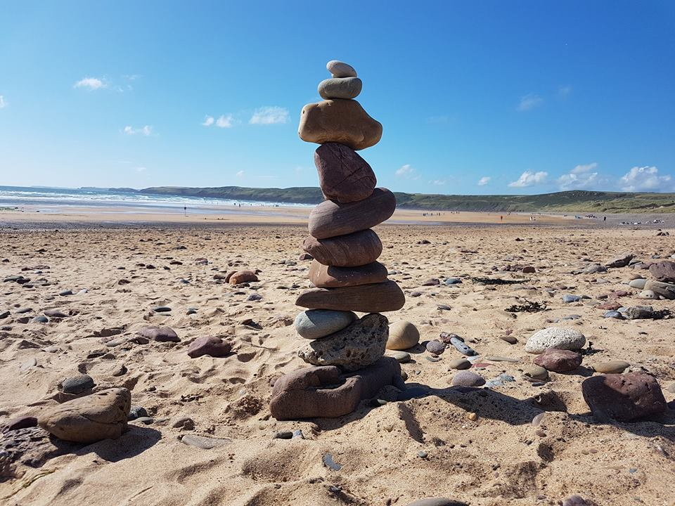 Freshwater West stone stack