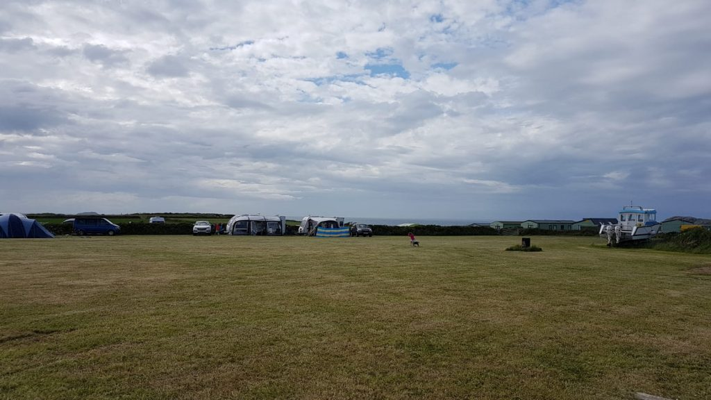 Camping fields at Pencarnan Farm